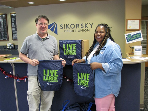 Sikorsky Crediut Union Employees Donating Backpacks